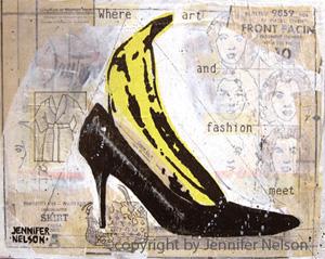 Banana Pump | 9 x 12 | SOLD