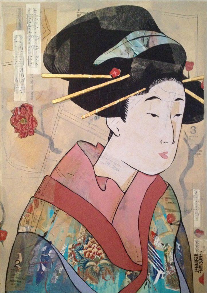 Edo Woman | 26 x 38 | SOLD