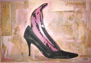 Pink Banana Pump | 36 x 24 | Available