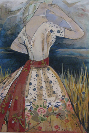Red Sash | 26 x 38 | SOLD