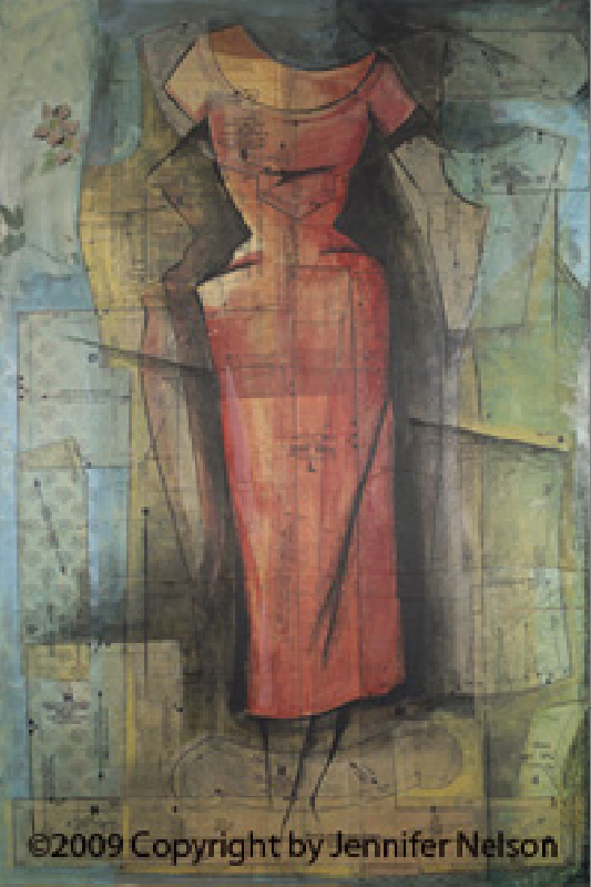 Red Dress   38 x 48   SOLD