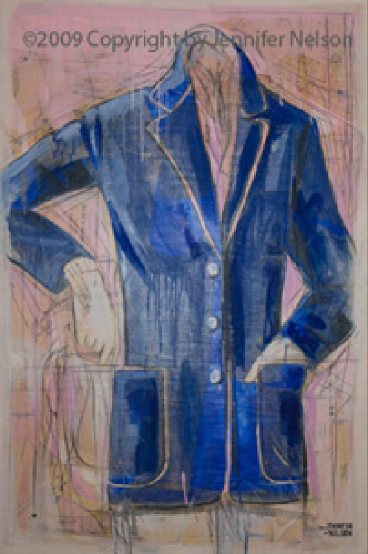 Blue Jacket   33 x 48   Available