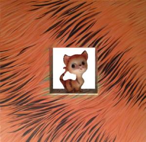 Big Head Tiger Cat | 24 x 24 | Available