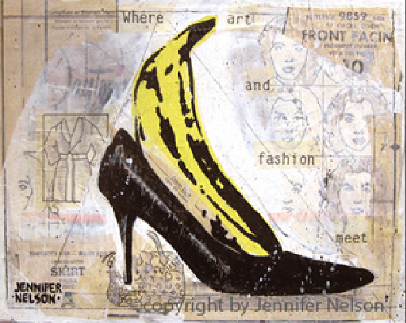 Banana Pump | 9 x 12 | SOLD