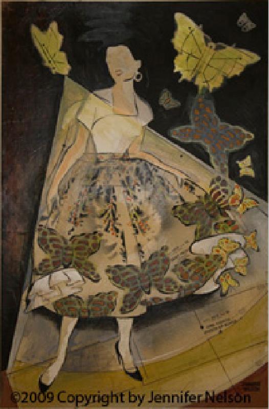 Butterfly Skirt   33 x 48   Sold
