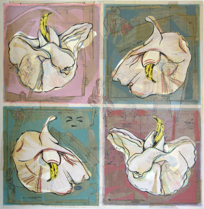 Banana Orchid   48 x 48   Available