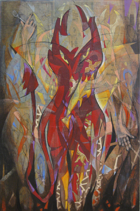 Devil in Red   32 x 48   Available