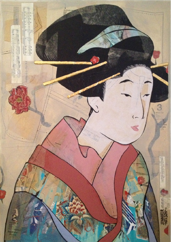 Edo Woman   26 x 38   SOLD