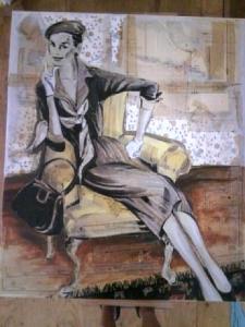Smoking Woman | 41 x 48 | SOLD